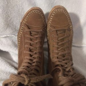 Ruff Hewn leather boots size 8